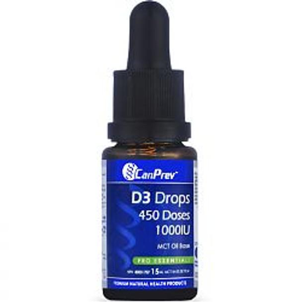 CanPrev D3 Drops 1000IU, 240 doses