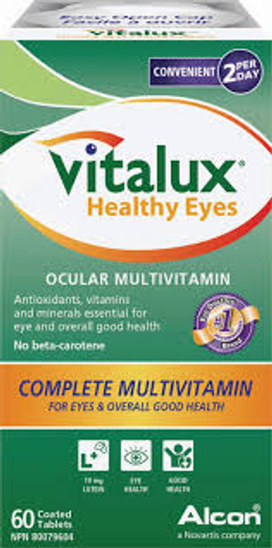 Vitalux Healthy Eyes complete Multivitamin, 60 tabs