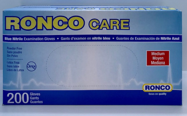 RONCO NITRILE GLOVES MEDIUM 200