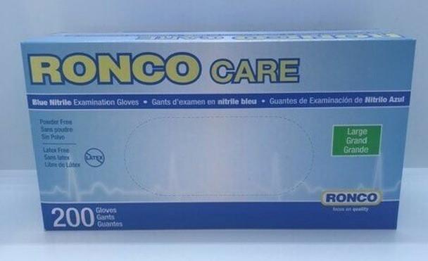 RONCO NITRILE GLOVES LARGE 200