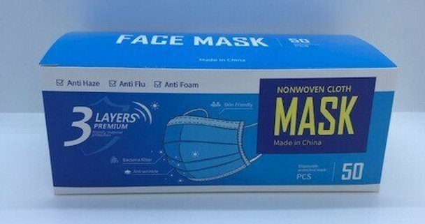3 LAYER DISPOSABLE FACE MASK 50 PACK