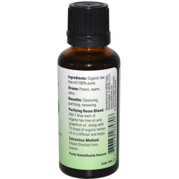 NOW Foods Organic Essential Oils Tea Tree, 30ml