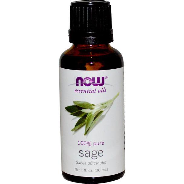 Now Pure Sage Essential Oils, 1 fl. oz. 30 ml