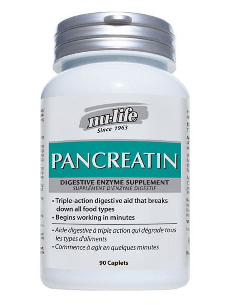 Nu-Life Pancreatin Digestive Enzyme, 90 Caplets