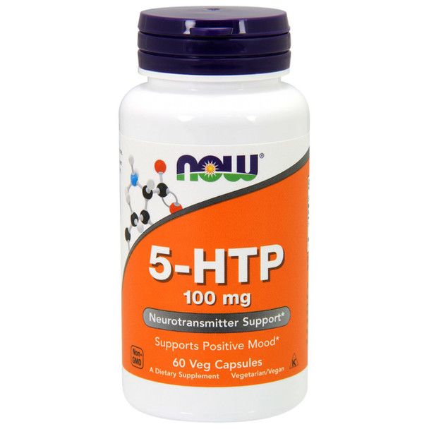 NOW 5-HTP 100 mg, 60 Capsules
