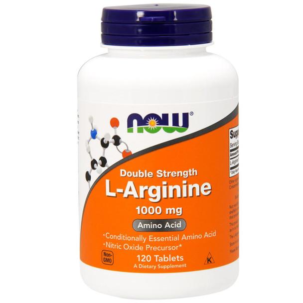 NOW L-Arginine 1000 mg, 120 Tablets