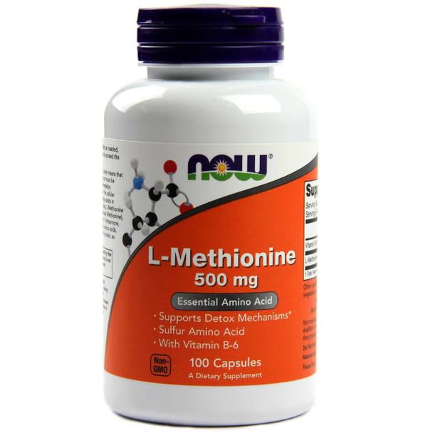 NOW L-Methionine 500 mg, 100 Capsules