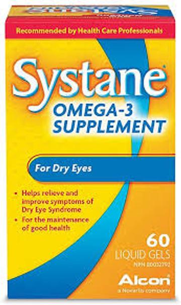 Systane Omega 3 Capsules, 60 Caps