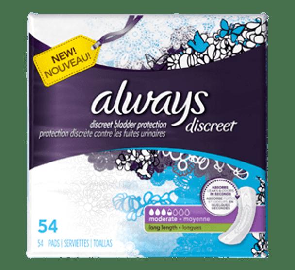 always discreet pantie liners 54