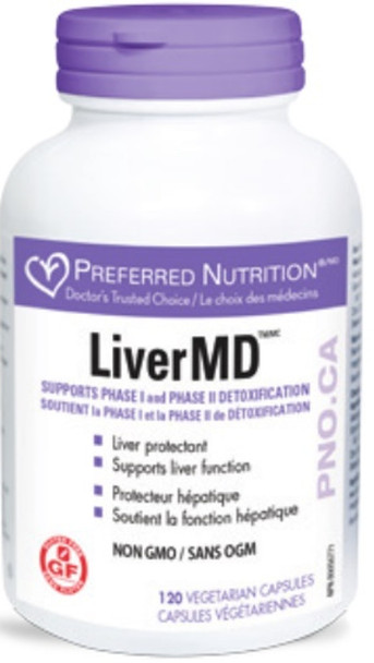 Preferred Nutrition LiverMD, 120 Veg Capsules