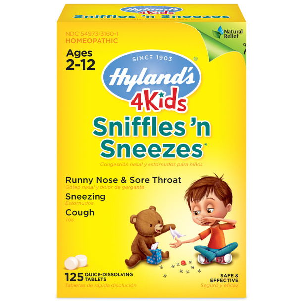 Hyland's Kids Sniffles N' Sneezes, 125 Tablets
