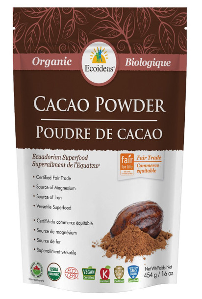 Ecoideas Cacao Powder Large, 454 g