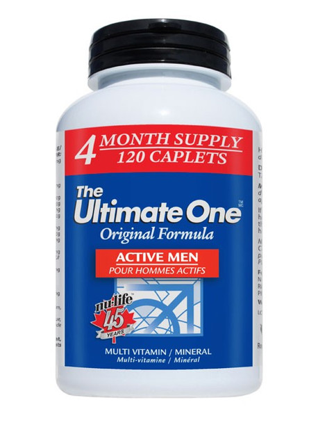 Nu-Life The Ultimate One Active Men Multivitamin 120 Caplets