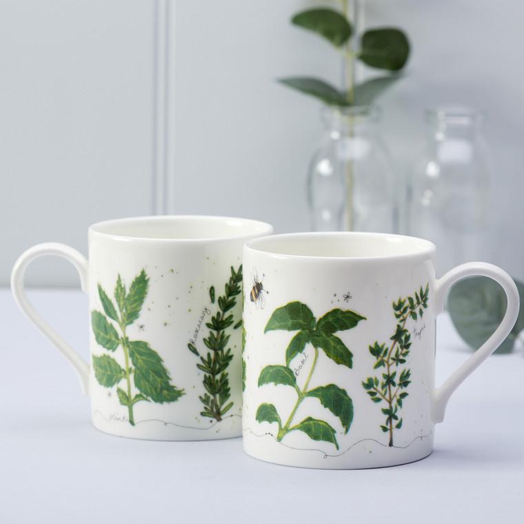 Fine Bone China Herb Mug by Lindsey Busby for Hooksgreen Herbs
