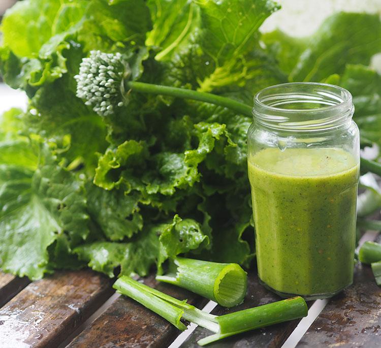 Welsh onion sweet green salad dressing