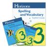 Horizons Grade 3 Spelling & Vocabulary Complete Set