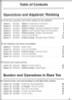 On Core Mathematics - Houghton Mifflin Harcourt - Grade 4 TOC page 1