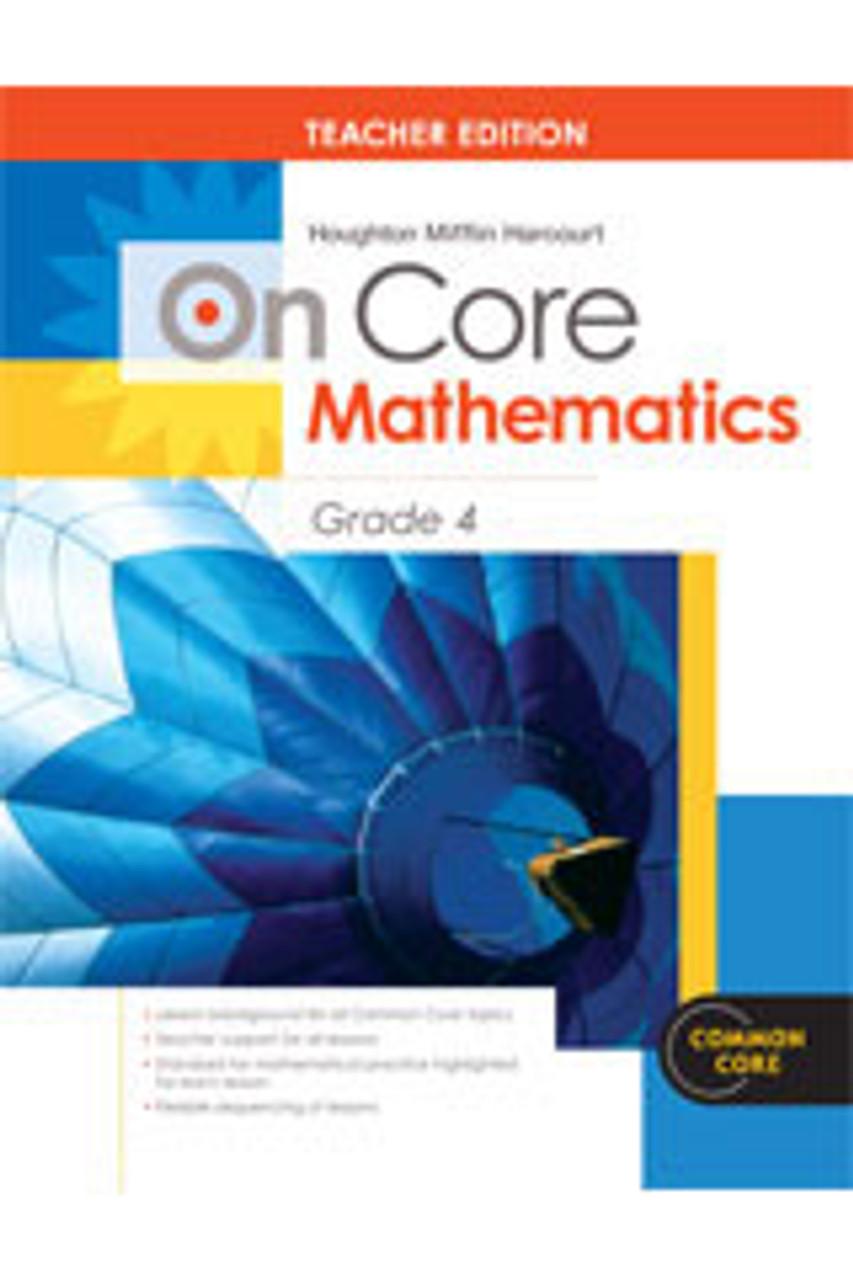 On Core Math - Houghton Mifflin Harcourt - Grade 4 Teacher Edition With  Blackline Master