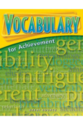 Vocabulary For Achievement Grade 8 Teachers Edition Second Course