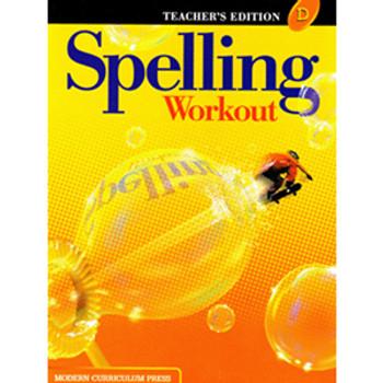 Spelling Workout Level D Teacher Book Grade 4 9780765224910