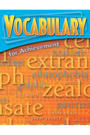 Vocabulary for Achievement Grade 7 Teacher's Edition - First Course