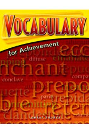 Vocabulary for Achievement Grade 12 Teacher's Edition - Sixth Course