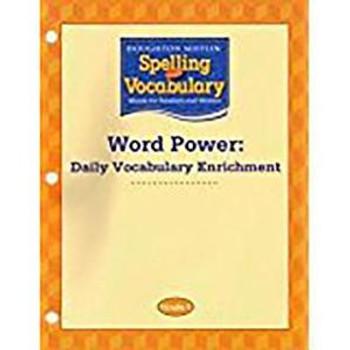 Houghton Mifflin Spelling & Vocabulary Grade 3 Word Power: Daily Vocabulary Enrichment Book