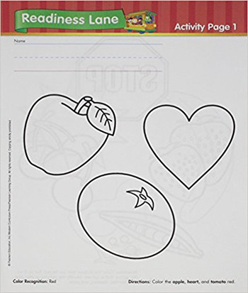 Sing, Spell, Read & Write Pre-K  Readiness Classroom Activity Sheets for 1 Student