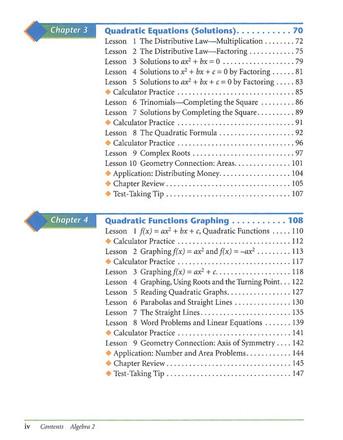 AGS Algebra 2 Student Textbook