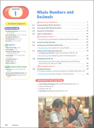 Prentice Hall Mathematics Grade 6 - Course 1 Student & Teacher Bundle