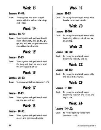 Horizons Grade 1 Spelling Vocabulary Teachers Guide