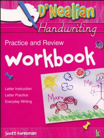 D'Nealian Handwriting Practice and Review Workbook Grade K