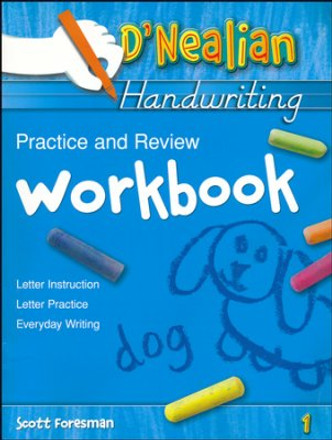 D'Nealian Handwriting Practice and Review Workbook Grade 1