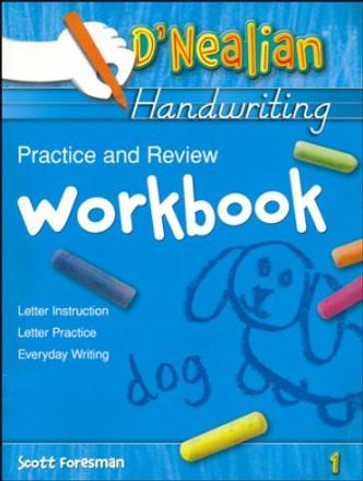 D'Nealian Handwriting Practice and Review Workbook Grade 1