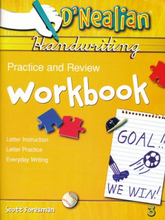 D'Nealian Handwriting Practice and Review Student Workbook Grade 3