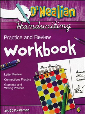 D'Nealian Handwriting Grade 4 Practice and Review Student Workbook