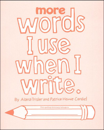 more words i use when i write red book