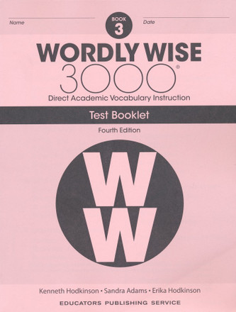 Wordly Wise 3000 4th Edition Book 3 Test Booklet