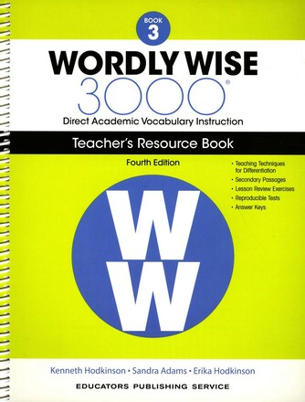 Wordly Wise 3000 4th Edition Book 3 Teacher Resource Book