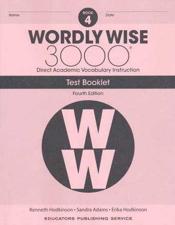 Wordly Wise 3000 4th Edition Book 4 Test Booklet