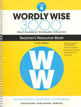Wordly Wise 3000 4th Edition Book 4 Teacher Resource Book