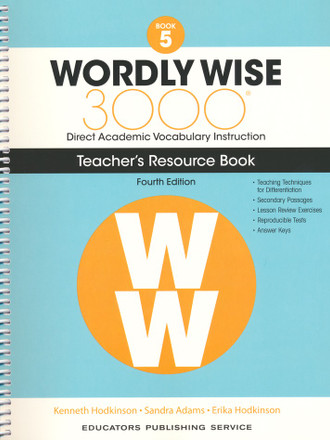 Wordly Wise 3000 4th Edition Book 5 Teacher Resource Book