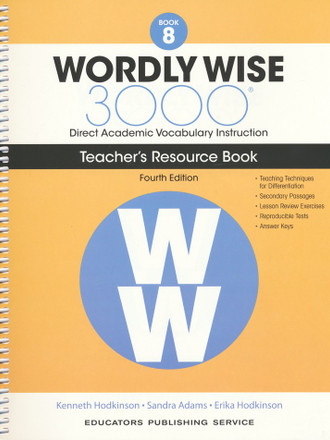 Wordly Wise 3000 4th Edition Book 8 Teacher Resource Book