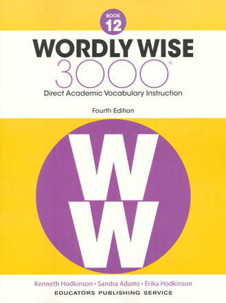Wordly Wise 3000 4th Edition Book 12 Student Book
