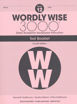 Wordly Wise 3000 4th Edition Book 12 Test Booklet