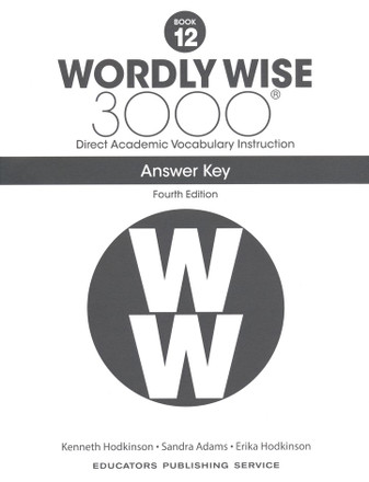 Wordly Wise 3000 4th Edition Book 12 Answer Key