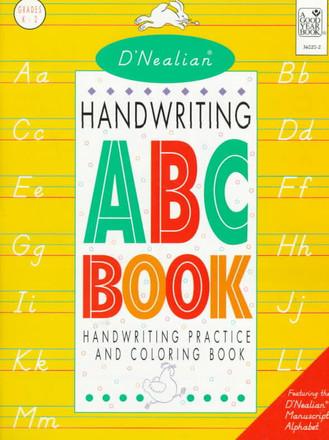 D'Nealian Handwriting ABC book manuscript