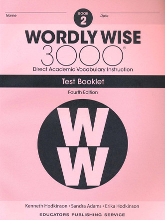 Wordly Wise 3000 4th Edition Book 2 Test Booklet