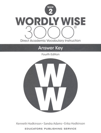 Wordly Wise 3000 4th Edition Book 2 Answer Key