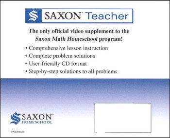 Saxon Math Home School Teacher Lesson & Test CD-Rom Set